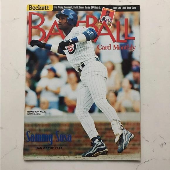 Vintage 1988 Baseball Magazine Sammy Sosa CUBS